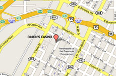 Click to enlarge Binion's Gambling hall and Hotel Las Vegas map