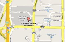 Click to enlarge Caesars Palace Las Vegas map