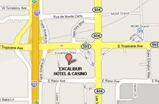 Click to enlarge Excalibur Hotel and Casino Las Vegas map
