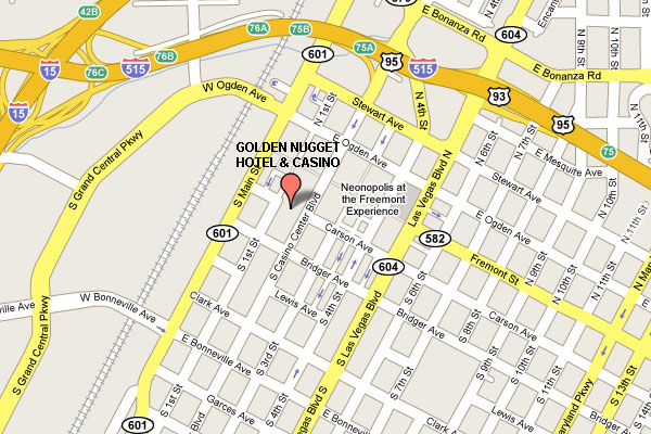 Golden Nugget Las Vegas map