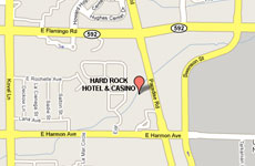 Click to enlarge Hard Rock Hotel and Casino Las Vegas map