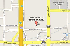 Click to enlarge Monte Carlo Las Vegas Resort and Casino map