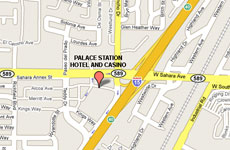 Click to enlarge Palace Station Hotel and Casino Las Vegas map