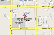 Planet Hollywood Resort And Casino Las Vegas - Planet hollywood las vegas map