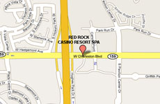 Click to enlarge Red Rock Casino Resort and Spa Las Vegas map