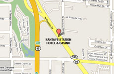 Click to enlarge Santa Fe Station Hotel Las Vegas map