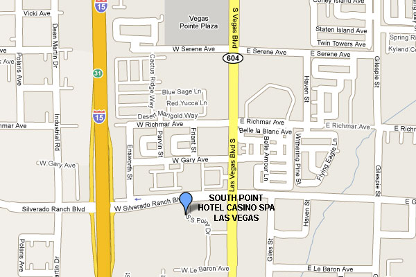South Point Hotel Casino Spa Las Vegas Map