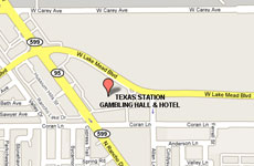 Click to enlarge Texas Station Gambling Hall and Hotel Las Vegas map