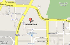 Click to enlarge The Venetian Las Vegas Resort, Hotel and Casino map